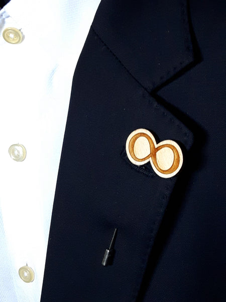 Infinity Wood Lapel