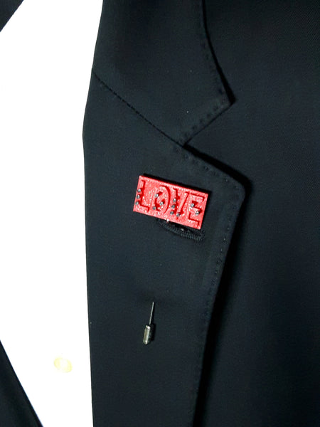 Love Braille 3D Lapel