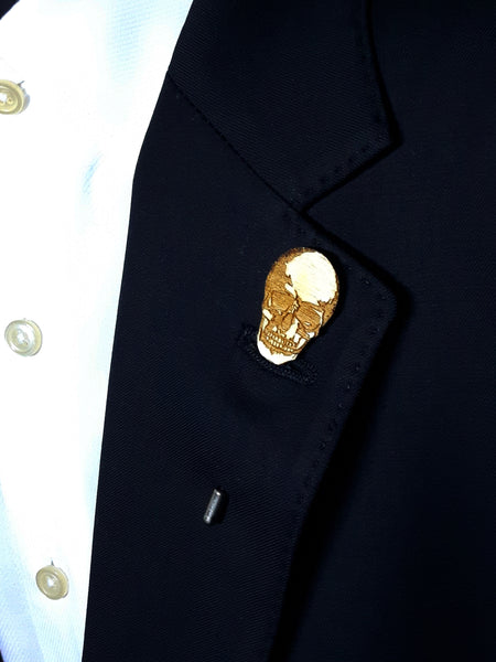 Skull Wood Lapel
