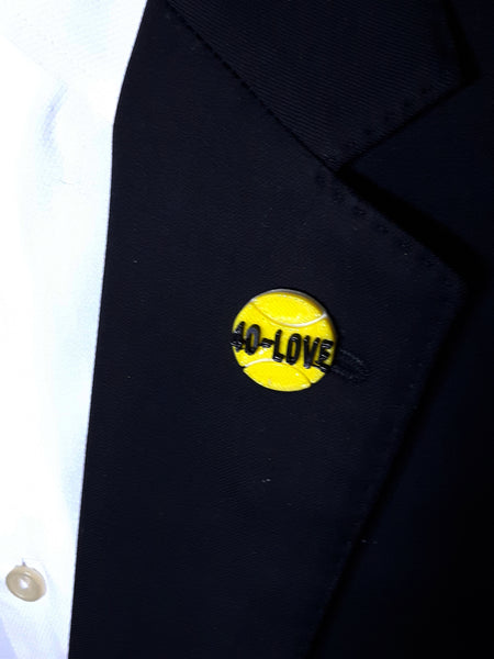 Tennis Ball 40-Love 3D Lapel