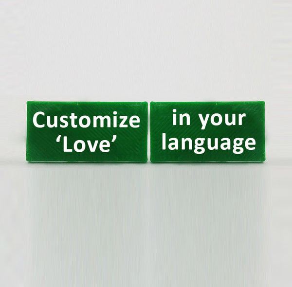 'Love' - Custom Language Cufflinks