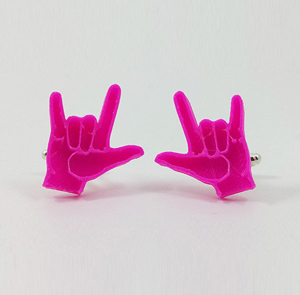 'Love' - American Sign Language Cufflinks