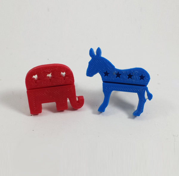 Republican & Democratic Cufflinks