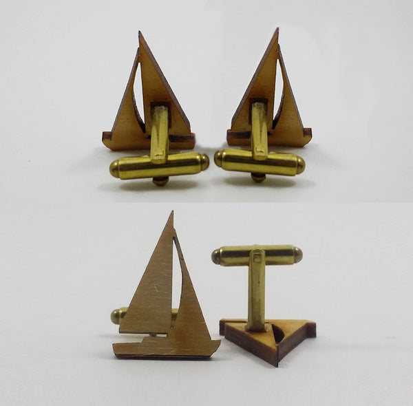 Sailboat Silhouette Cufflinks