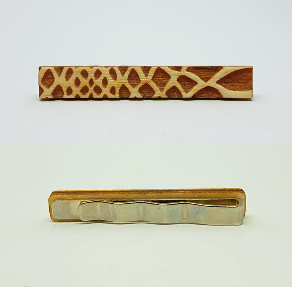 Giraffe Wood Tie Bar