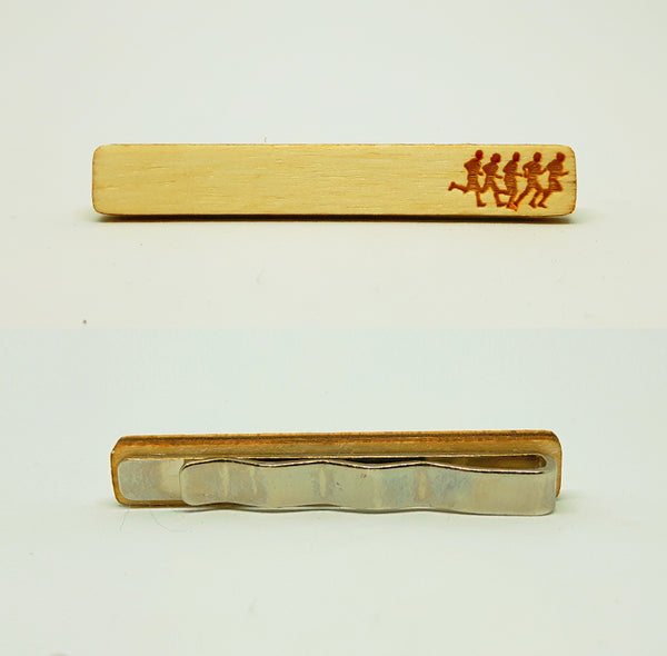 Runners Wood Tie Bar