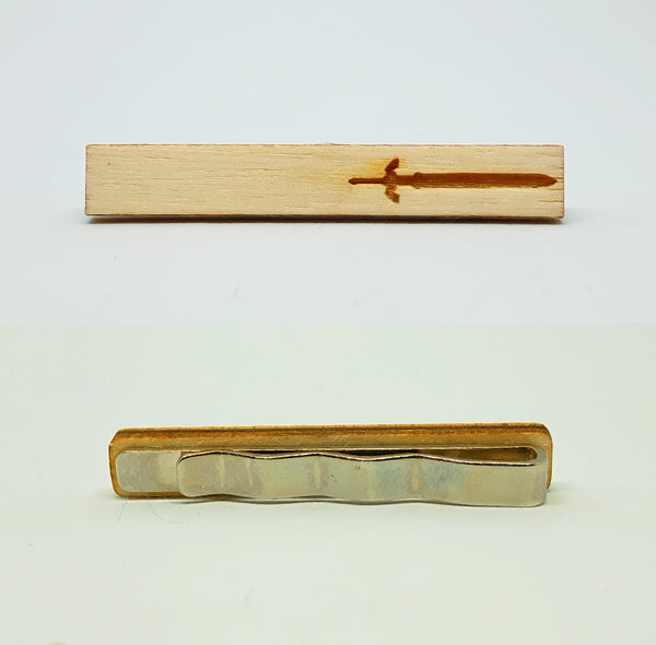 Master Sword Wood Tie Bar