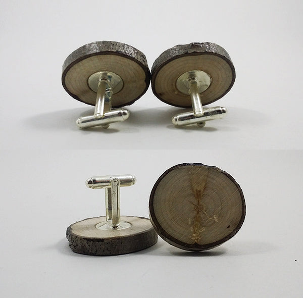 Naturally Imperfect Wood Cufflinks