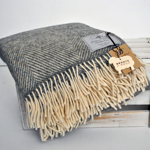 Natural wool blankets