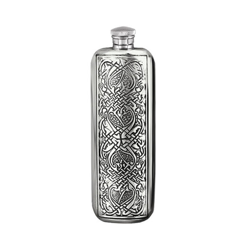 3 Ounce Celtic pewter top pocket hip flask sf238