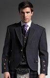 Grey Tweed Kilt Jacket and 5 Button waistcoat in Arrochar wool