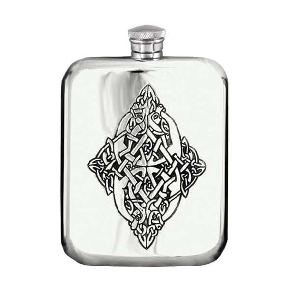 6 Ounce Celtic pewter purse hip flask Cel 127