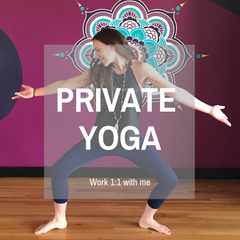 private yoga with Tiffany