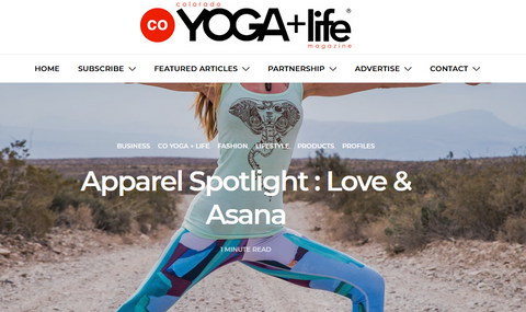 CO Yoga Magazine Love and Asana yoga clothes