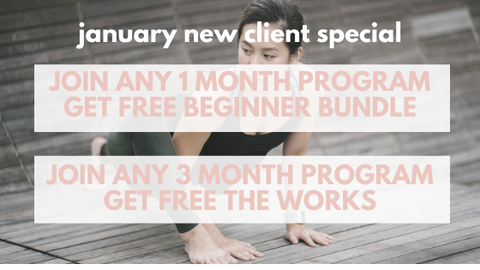 New client special January 2020 virtual custom yoga programs