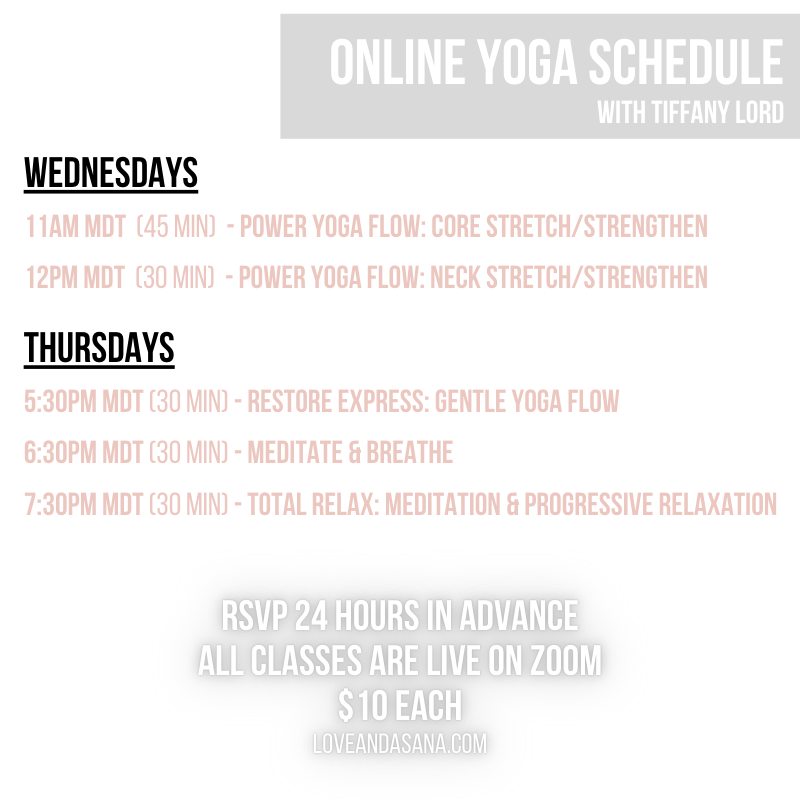 Online yoga classes with Tiffany Lord, yoga for migraines