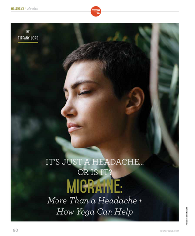 Colorado Yoga and Life Magazine article by Tiffany Lord yoga for migraines