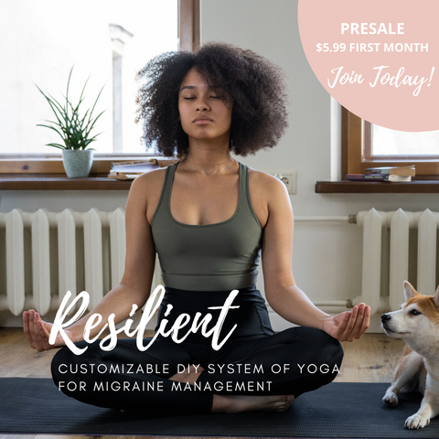 Resilient, custom online yoga video classes for migraine management