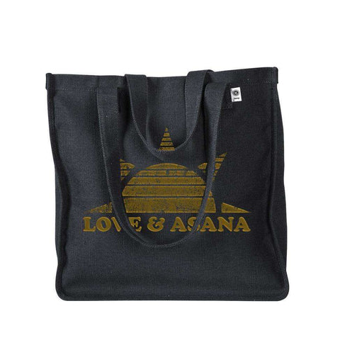 Love and Asana Black Sun Salutations Yoga Tote