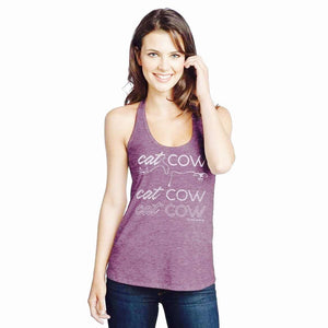 Cat Cow Fade T-Back Tank