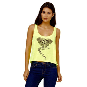 Winking Elephant Crop Tank FINAL SALE