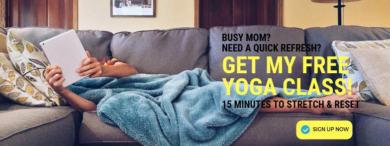 free yoga CLASS for busy moms from Love & Asana