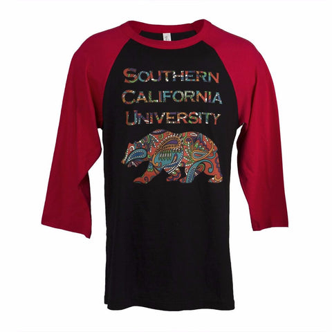 Locals Only - SCU Paisley Bear Baseball Tee