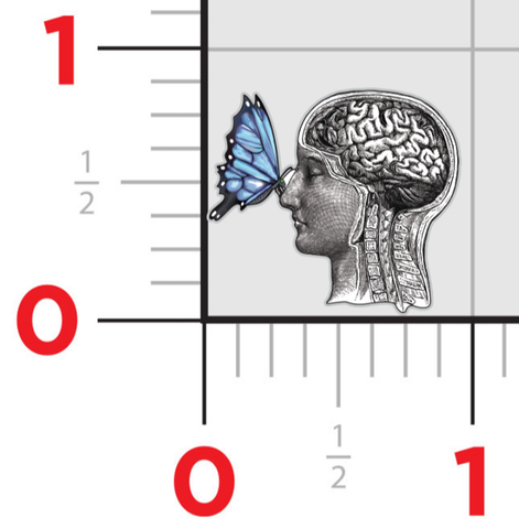 Butterfly Brain - Lapel Pin