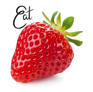 Eat Strawberry - Sticker