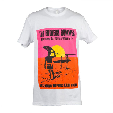 "T-shirt - ""Endless Summer"" - white"