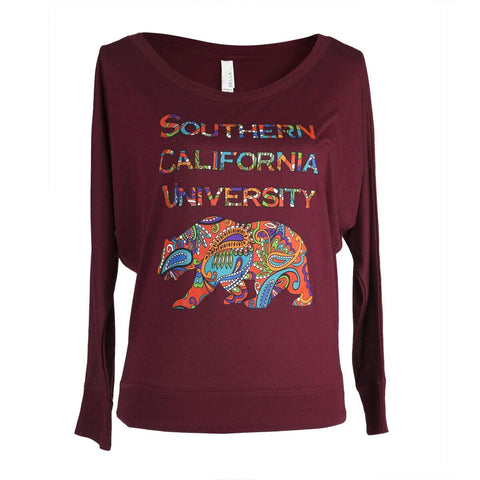 Locals Only - SCU Paisley Bear Flowy Long Sleeve