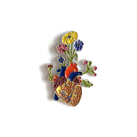 Heart Flower Pot - Lapel Pin