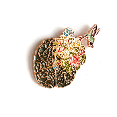 Hummingbird Brain - Lapel Pin