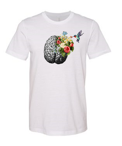 Hummingbird Brain - White T-shirt