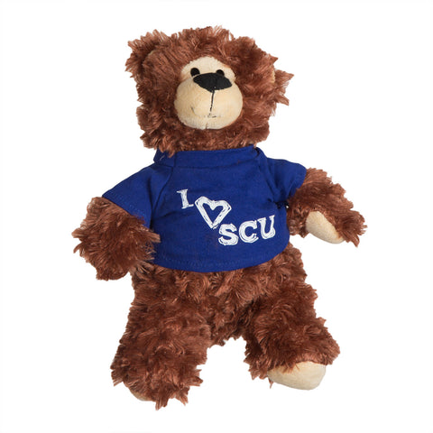 I Love SCU Stuffed Brown Bear Toy