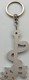 "Key Chain - 3"" Antique Silver PA"