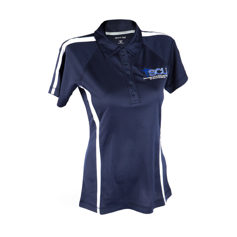 SCU Logo Polo in Navy and White
