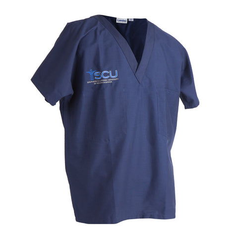 SCU Navy Scrubs Top