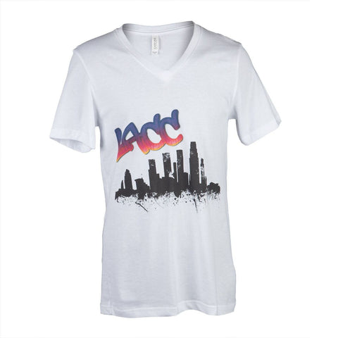 V-neck - LACC Skyline - White