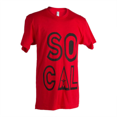 "T-shirt ""SoCal"" SCU - red"