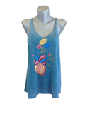 Slouchy Tank - Heart Flower Pot
