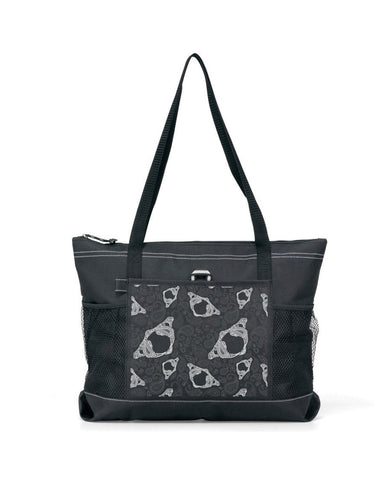 Paisley Atlas Bone Tote Bag with Zipper