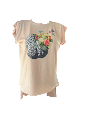 Cuffed Muscle Tee - Hummingbird Brain