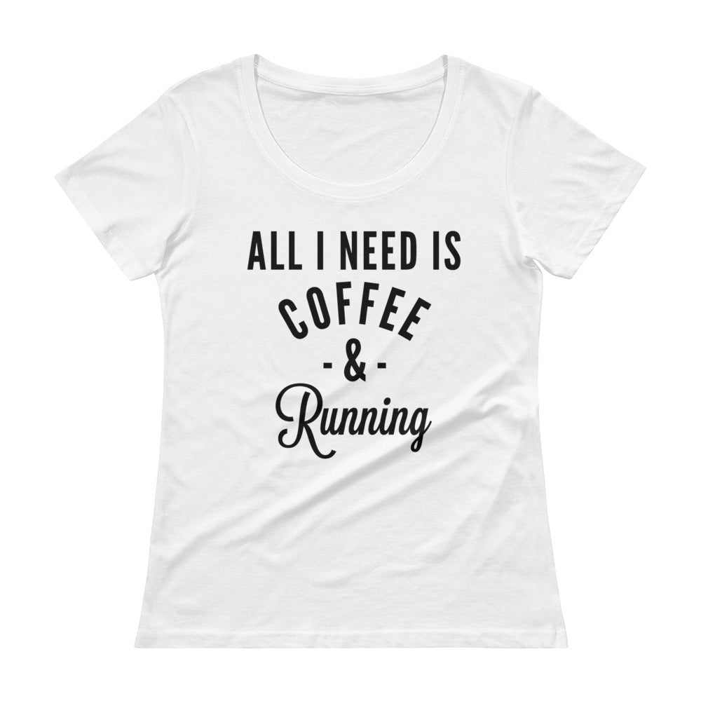 Coffee & Running - Scoopneck Tee
