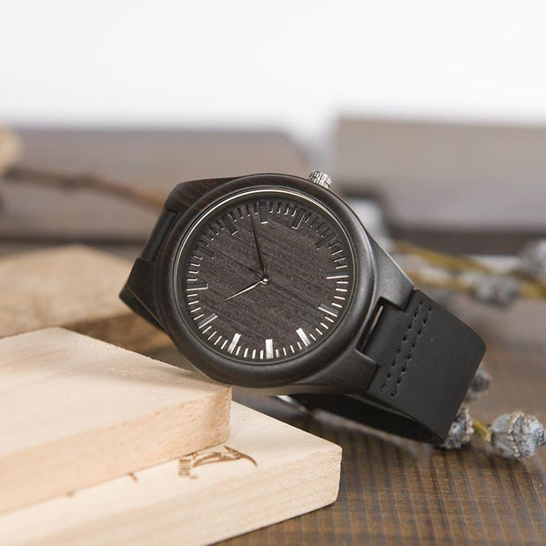 Daughter to Dad - The Best Man - Engraved Wood Watch