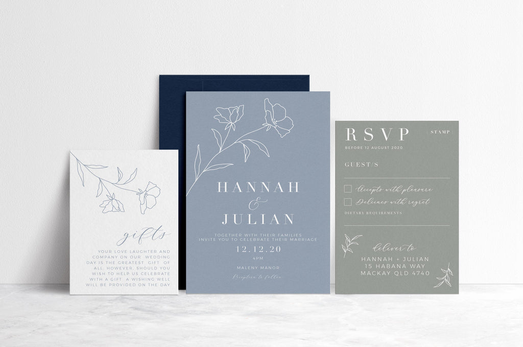 Hannah - Printable Invitation Set - The Sundae  Creative