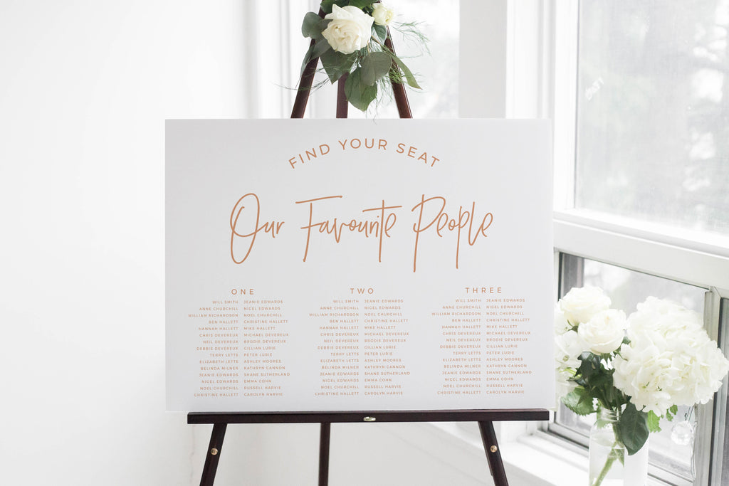 Cotta - Printable Seating Plan - The Sundae  Creative