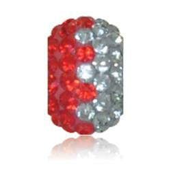 2756 | Sparklies® - Bright Red & Grey Zig-Zag
