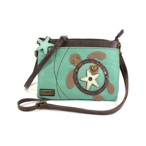 Chala Turtle Mini Crossbody, Teal