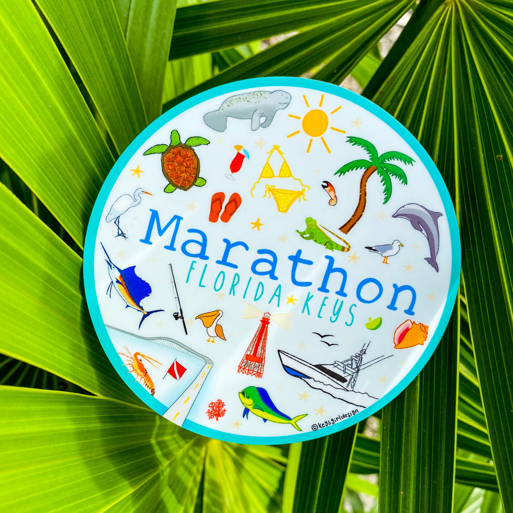 Marathon Sticker Circle